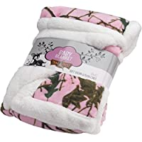 Baby Pink Forest Soft Poly fleece Sherpa Blanket 30 X 42 by TrailCrest