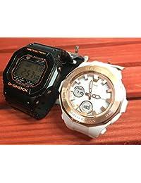 カシオCASIO 腕時計 G-SHOCK&BABY-G ペアウォッチ 純正ペアケース入り ジーショック&ベビージー 2本セット ブラック 黒 ホワイト 白 電波ソーラー GW-M5610R-1JF BGA-2250G-7AJF
