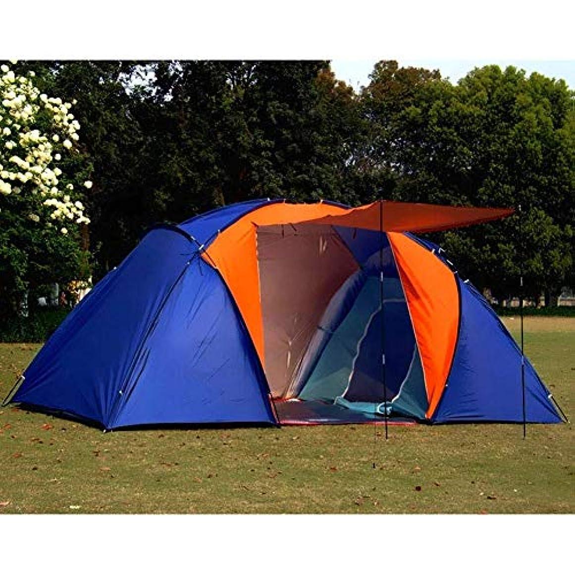 他のバンドで誤って開梱多機能屋外キャンプテント5-8人二重層日焼け止め防水家??族旅行ホリデーピクニックビーチパーク芝生