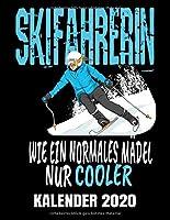 Skifahrerin Kalender 2020: Abfahrt - Skifahrer Kalender Terminplaner Buch - Jahreskalender - Wochenkalender - Jahresplaner
