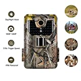 DishyKooker 16MP HD Screen Hunting Trail Camera Tracking HC900A Infrared Night Vision Wild Life Cameras for Video Photo Traps