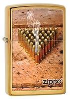 ZIPPO BULLETS BRUSHED BRASS LIGHTER (28674)