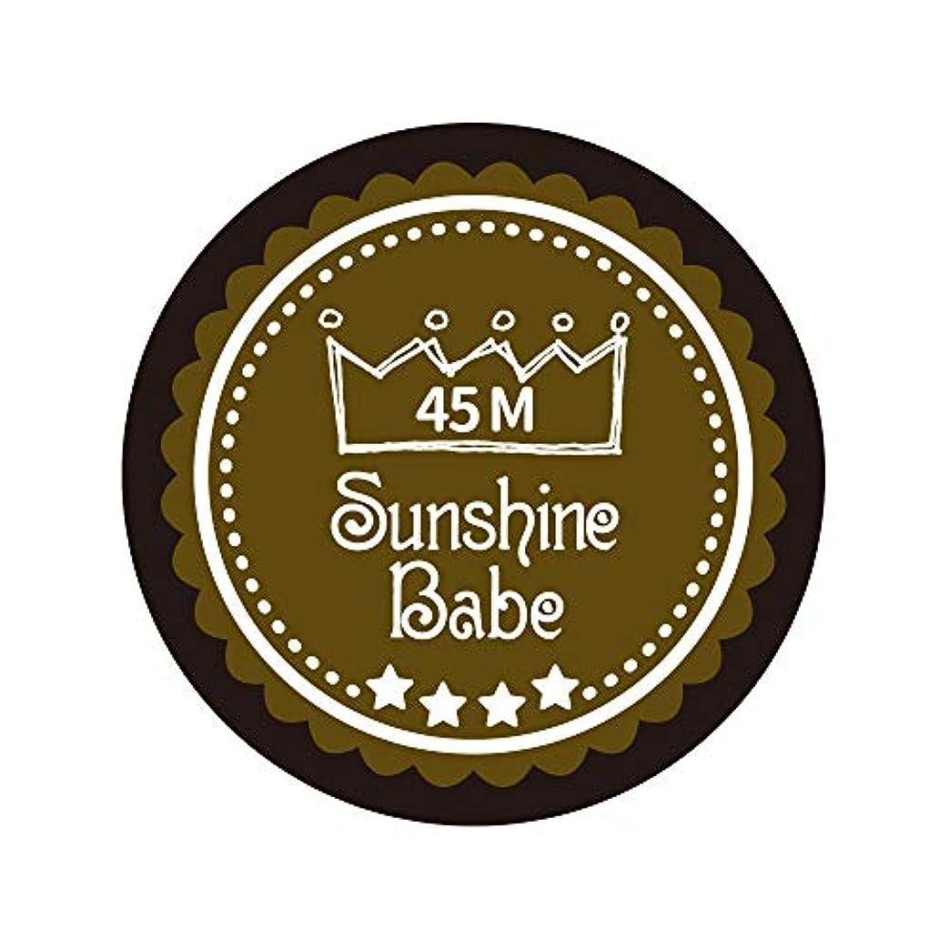 混乱静める損なうSunshine Babe カラージェル 45M マティーニオリーブ 4g UV/LED対応