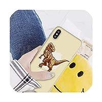 かわいい漫画恐竜Coqueシェル電話ケースiphone 8 7 6 6 sプラスX Xs最大5 5 s se Xrカバー、iphone 6または6 s、A10