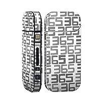 スマコレ IQOS 2.4 Plus 専用 シール 全面 ケース おしゃれ 全面ケース 保護 ステッカー デコ アクセサリー デザイン 白黒 数字 文字 012264