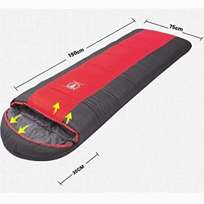 Double Camping Envelope Twin Sleeping Bag Thermal Tent Hiking Winter -15° C Red