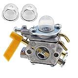 キャブレター C1U-H60 308054013 308054012 308054004 308054008 付き2つのプライマー電球は 25cc 26cc 30ccリョービ( Ryobi)ホームラン (Homelite)ストリング トリマー ブラシ カッターに適合 社外品