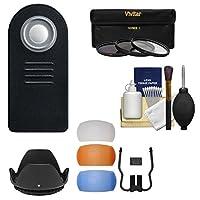 Essentialsバンドルfor Nikon d5300, d5500、d7100、d7200デジタル一眼レフカメラwith 18–140mm VRレンズとリモート+ 3UV / CPL / nd8フィルタ+ 4ポップアップフラッシュDiffusers +レンズフード+キット