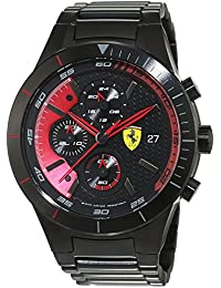 フェラーリScuderia RedrevブラックMens Watch 0830264