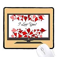 バレンタインデーは、私があなたを愛している赤 マウスパッド・ノンスリップゴムパッドのゲーム事務所