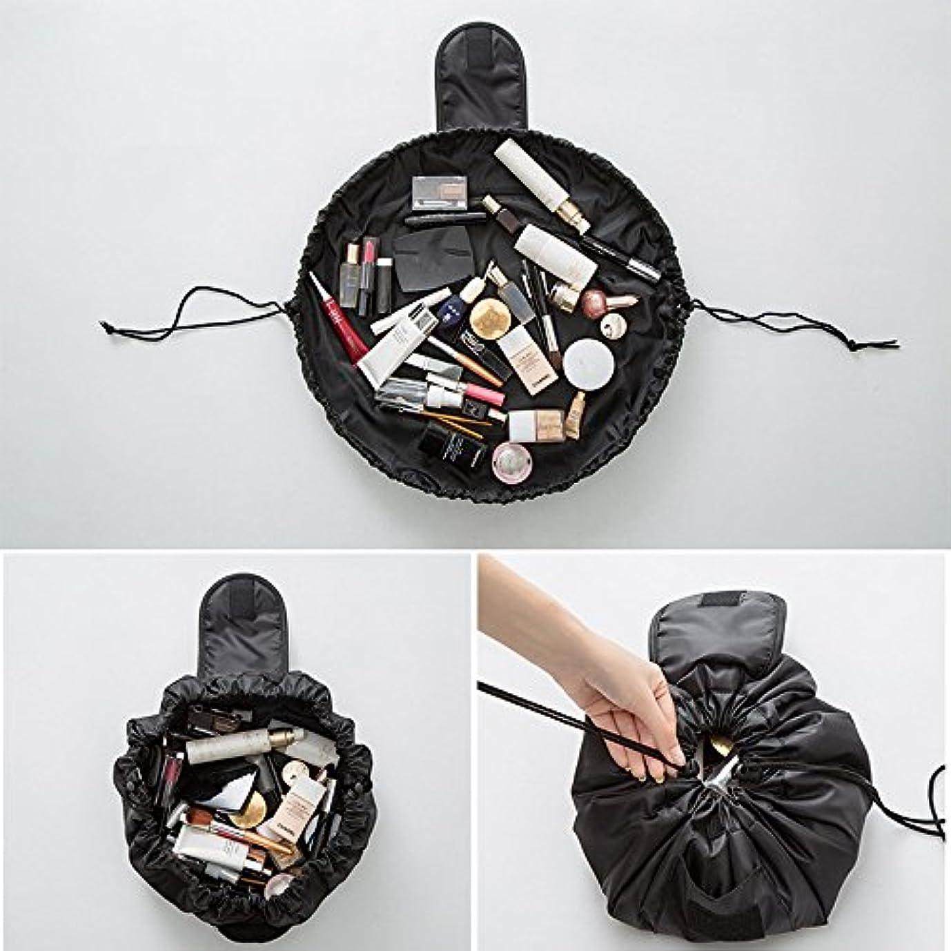 チョップセラフ酔った旅行メイクバッグ YOKINO 旅行化粧バッグ メイク収納バッグ 化粧ポーチ 大容量 巾着 マジックふろしきポーチ 風