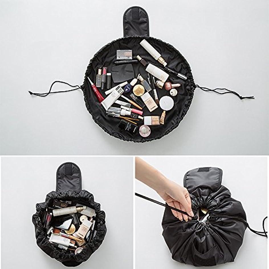 法令氏発明する旅行メイクバッグ YOKINO 旅行化粧バッグ メイク収納バッグ 化粧ポーチ 大容量 巾着 マジックふろしきポーチ 風