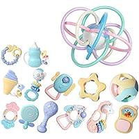 ベビーラトルテザーのおもちゃセット、ラトル赤ちゃんの新生児の最初のセットのおもちゃ ( Color : B )