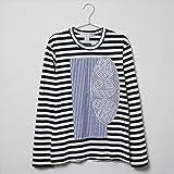 (コムデギャルソン) COMME des GARCONS Tシャツ W25104 メンズ 長袖 ロンT ロゴ プリント ネイビー [並行輸入品]
