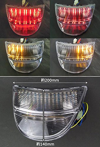 AP LEDテールランプ クリア AP-BP-179-CL ホンダ CBR954 2002年~2003年