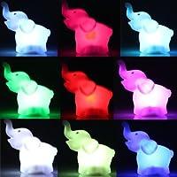 Ecloud Shop バッテリーパーティーの装飾に象のLEDナイトライトランプを変更する7色