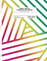 Sheet Music Composition Book: Geometric Prism (Style B), Numbered Pages (Geometric Prism-B)
