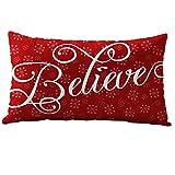 クリスマス長方形枕ケース、コットンLinter枕カバー印刷雪だるま、フクロウ、スノーフレーククリスマス色ソファクッション 30cm x 50cm