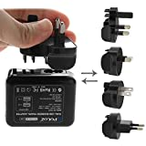 PULUZ 2 Ports USB 5V (2.1A + 2.1A) Wall Charger Set with Removable International UK + EU + US + AU Plug Travel Power Adapters for GoPro HERO4 /3+ /3 /2 /1 [並行輸入品]