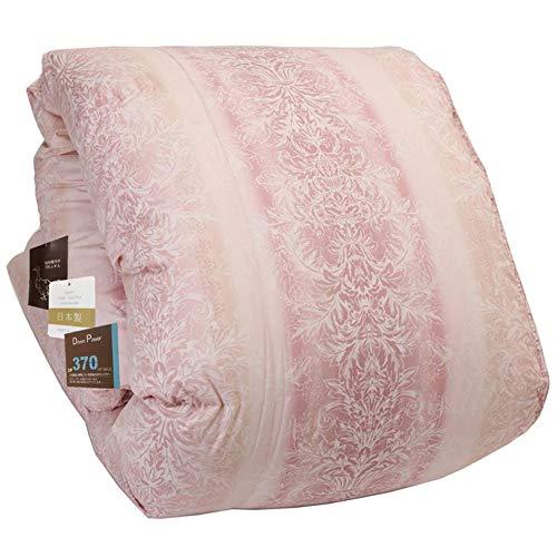 昭和西川 掛けふとん ピンク ダブル EU名産地羽毛布団フランスダウン90%(側柄おまかせ) ダブル amazonオリジナル企画