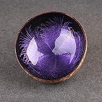 キャンディボウル、ココナッツシェル収納皿インクラウンドDIY飾りクリエイティブナッツホルダー(紫の)