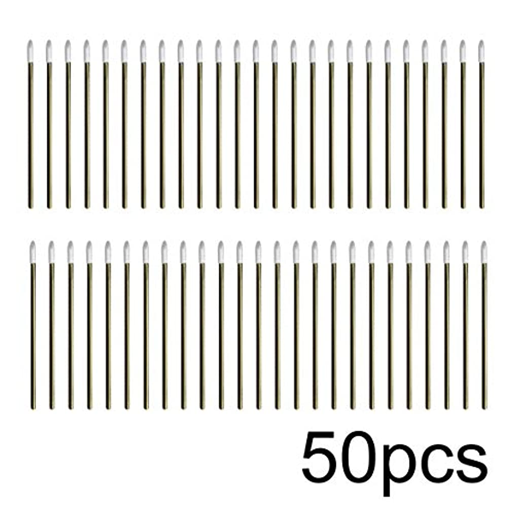 忠誠検索安息Intercorey 50pcs / lotカラフルな使い捨てメイクリップブラシ口紅ペン化粧道具