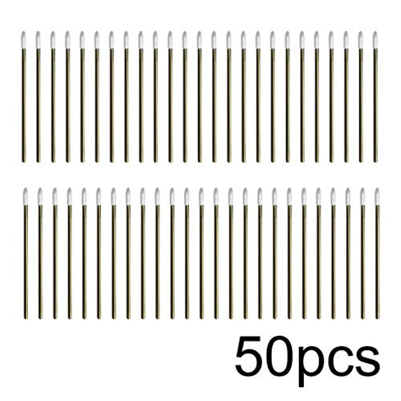 砂利ディレクトリ障害者Intercorey 50pcs / lotカラフルな使い捨てメイクリップブラシ口紅ペン化粧道具
