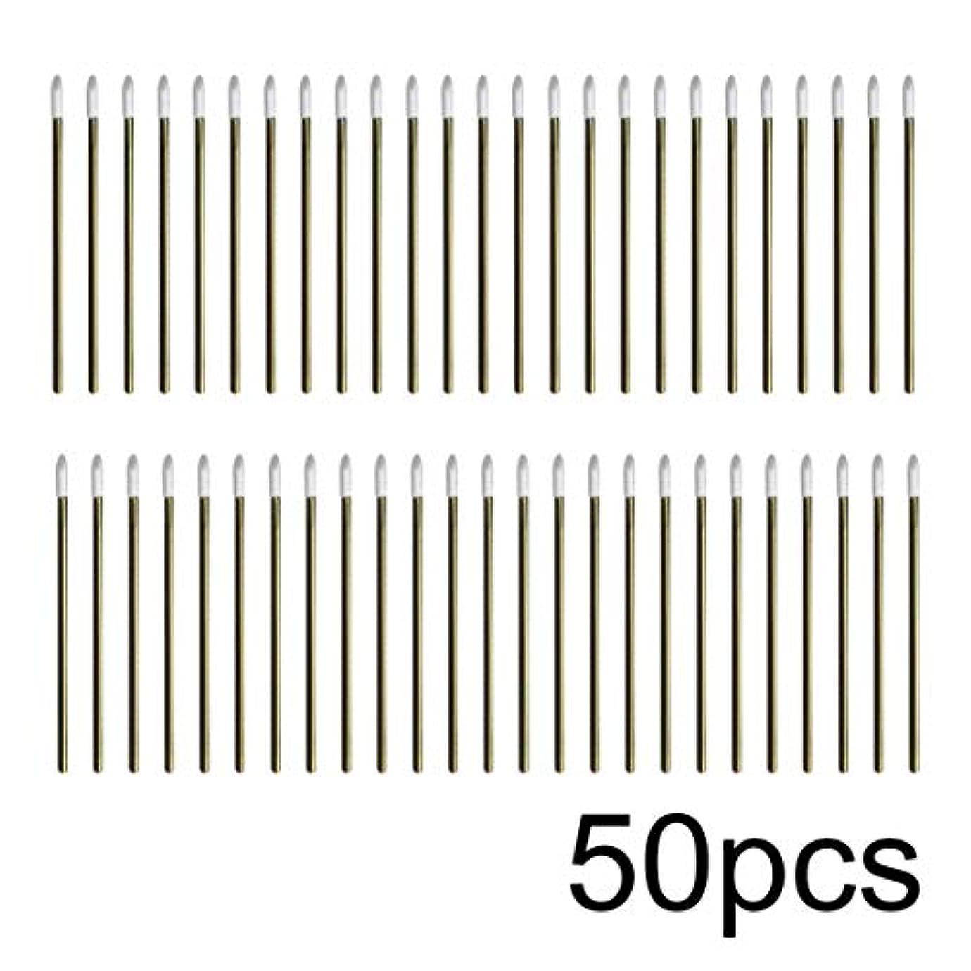 もつれストライド洞窟Intercorey 50pcs / lotカラフルな使い捨てメイクリップブラシ口紅ペン化粧道具