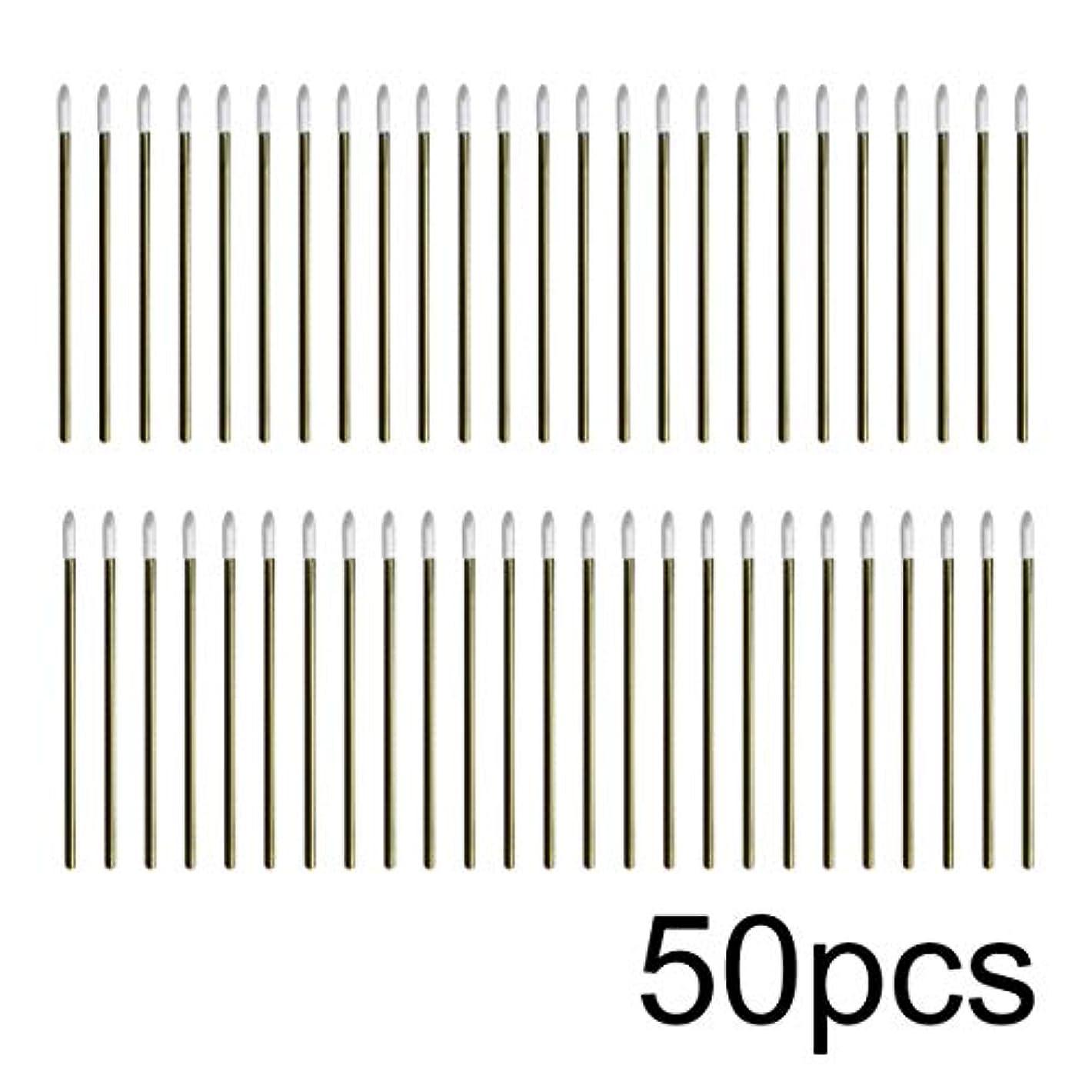 競う夢レッドデートIntercorey 50pcs / lotカラフルな使い捨てメイクリップブラシ口紅ペン化粧道具