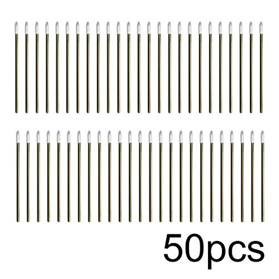 知覚するアクション王女Intercorey 50pcs / lotカラフルな使い捨てメイクリップブラシ口紅ペン化粧道具