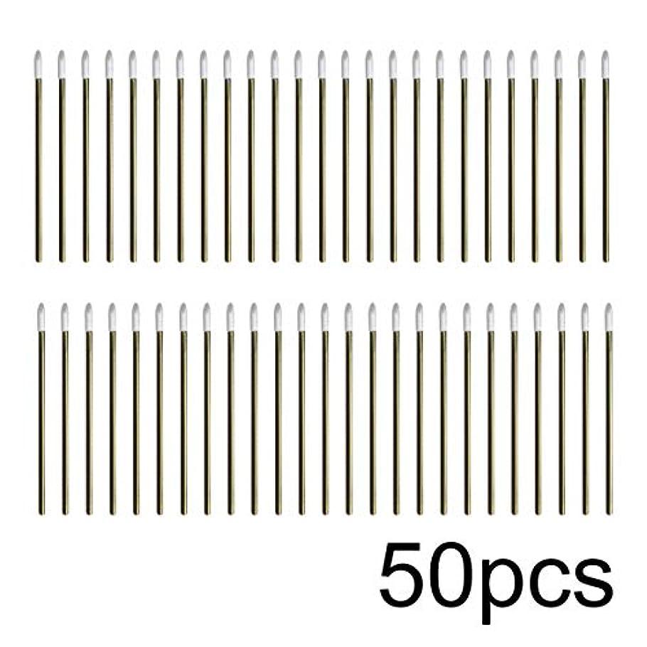 すでに因子終わったIntercorey 50pcs / lotカラフルな使い捨てメイクリップブラシ口紅ペン化粧道具