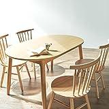 【商品名】木製ダイニング5点セット テーブル チェア4脚付き 食卓 【サイズ】楕円形テーブル:幅135×80 高さ70cm チェア:幅48 奥行48.5 高さ78 SH42cm 北欧 シンプル 楕円形ダイニングテーブル&円形チェアー ナチュラル カントリー