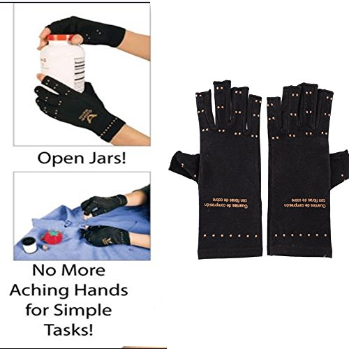 Giantree 磁気関節炎の圧縮手袋 関節炎の関節痛症状緩和 マジックユニセックスオープンフィンガー メンズ&レディース リウマチ様変形性関節症