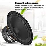 Round Speaker, 10 inch 8 ohms 250W HiFi Audio Speaker Woofer Subwoofer Bass Horn Loudspeaker Amplifiers for Indoor/Outdoor