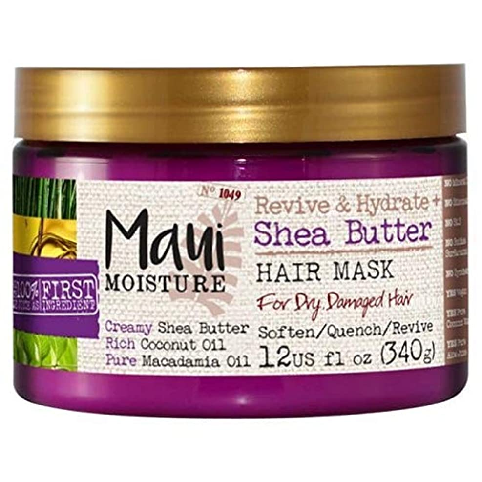 欠点悪夢パラメータ[Maui Moisture ] マウイ島の水分が復活&ハイドレートシアバターヘアマスク - Maui Moisture Revive & Hydrate Shea Butter Hair Mask [並行輸入品]