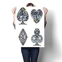 キャンバスウォールアート ラージ ロマンチック オイルペインティング スモール ラージ 水彩スタイル シェード ダイヤモンド クリスタル ストーン ジルコン 富 ブライダル テーマ Ima ペインティング キャンバス (フレームなし) 24 x 44inch(60x110cm)/1pc