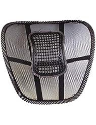メッシュカバー付き腰椎サポートクッション腰痛緩和のためのバランスのとれた硬さ - 理想的なバックピロー