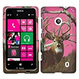 NOKIA LUMIA 521 520 T-MOBILE AT&T METRO PCS PHONE CASE COVER FACEPLATE PROTECTOR HARD RUBBERIZED SNAP ON CAMO PINK ADVANTAGE TREE HUNTER NEW by wirelessoutletusa [並行輸入品]