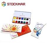 Stockmar(シュトックマー社) 固形水彩絵の具 13色 缶【ST46102】