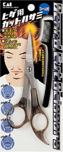 貝印 KQ SERIES ヒゲ用カットハサミ(コーム付) KQ-1011