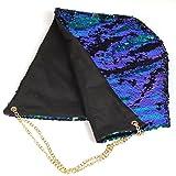 OULIIスパンコール帽子パーティーアクセサリーキャップハロウィンクリスマスパーティーSupplies (ブラックブルー)