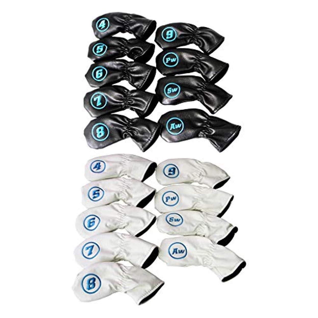 ビクターきつくボットCUTICATE ゴルフヘッドカバー クラブカバー パター 保護カバー アイアンカバー PUレザー 番号付き 約18個