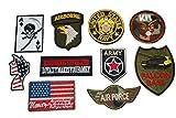 厳選 US アーミー ARMY 軍物 NEWアイロンワッペン 10枚セット