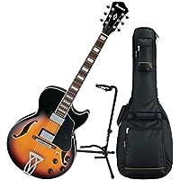 Ibanez アイバニーズ AG75 Artcore エレキギター (Brown Sunburst) w/ Padded ギグバッグ ギターケース and Stand エレキギター エレクトリックギター (並行輸入)