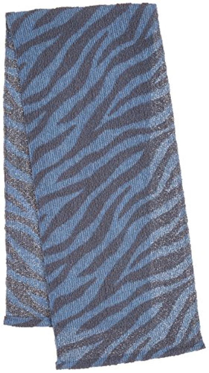 急性マインド厳マーナ サファリボディタオル ゼブラ ブルー B545B