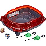Beyblade Burst Turbo - Slingshock Rail Rush Battle Set inc Stadium, 2 Right Spin Battle Tops and Launchers - Kids Toys - Ages 8+