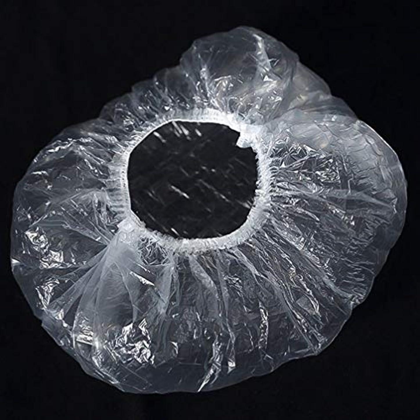胸本会議出費Quzama-JS 快適なシャワーキャップ、ポータブル使い捨てシャワーキャッププラスチック透明防水シャワーキャップバス(as picture)