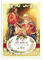 パンチスタジオ 【クリスマス】 立体 グリーティングカード 封筒セット Lサイズ (キリスト降誕) 44695
