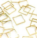 [UNATA.] uv レジン フレーム パーツ 【 四角 スクエア 20個】 ピアス アクセサリー 空枠 枠 正方形 型