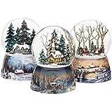 Roman Inc. Winter Church Scene 100mm - Musical Snow Globe Glitter Dome Glitterdome 23958-SNO